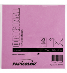 photo of Envelop Papicolor 140x140mm Felroze