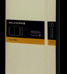 photo of Paper tablet Moleskine large 130x210mm blanco zwart