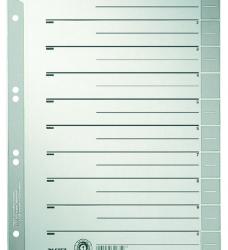 photo of Scheidingsbladen Leitz A4 karton 230gr 6-gaats grijs