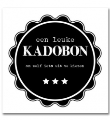 photo of Kadobon algemeen zwart/wit genummerd
