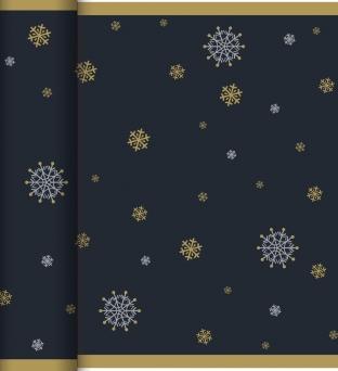 Tafellopers 40cm x 2400cm zwart snowflake necklace black Product image