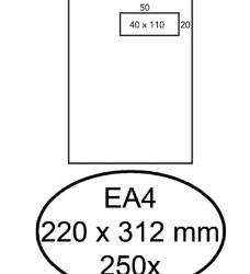 photo of Envelop Hermes akte EA4 220x312mm venster 4x11 rechts zelfkl 250st