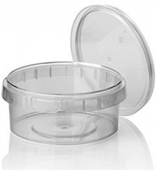 photo of Cups+deksels rond 11.8cm x 5.1cm 300ml pp transparant