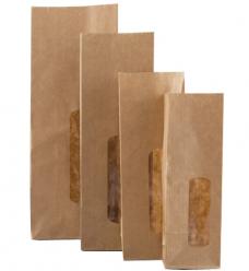 photo of Bruine zakken met venster