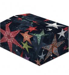 photo of Pakketdoos A 31cm x 20cm x 14cm zwart/rood/groen starlight