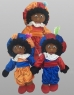 photo of Zwarte piet 35cm blauw/oranje/rood