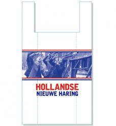 photo of Hemddraagtas 27cm x 6cm x 48cm wit hollandse nieuwe haring hdpe 15µm