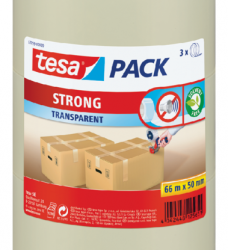 photo of Verpakkingstape Tesa 50mmx66m transparant PP 3rol