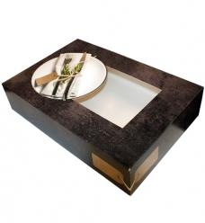 photo of Cateringdoos met venster 36cm x 25cm x 8cm grijs/zwart greystone
