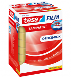 photo of Plakband Tesa film 19mmx66m transparant 8 rollen