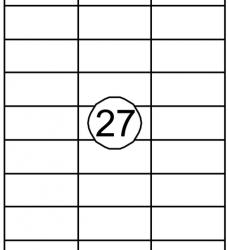 photo of Etiket Quantore 70x32mm 2700stuks